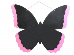 Gisela Graham Large Butterfly Painted Edge Chalk Board 61x50cm
