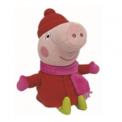 TY Peppa Pig Winter Plush Soft Toy