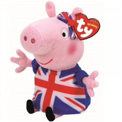 TY Peppa Pig Union Jack Plush Soft Toy