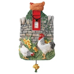 Border Fine Arts James Herriot Pastime Clock Chicken