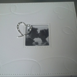 Wedding Album PU Swirling Hearts