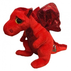 TY Beanie Boo Buddy Medium Y Ddraig Goch Welsh Dragon