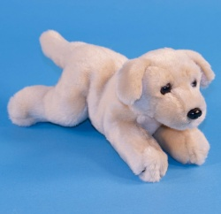 Dowman Laying Golden Retriever Dog 26cm Soft Toy