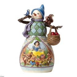 Disney Traditions ''Snowman With Snow White Scene'' Figurine