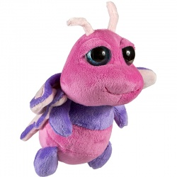Petjes Big Eyes Butterfly Pink Soft Toy