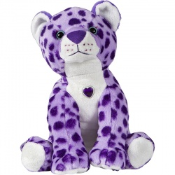 Petjes Girly Cheetah Purple Soft Toy