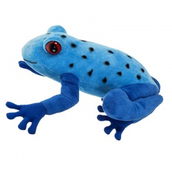 Petjes Blue Poison Dart Frog Soft Toy