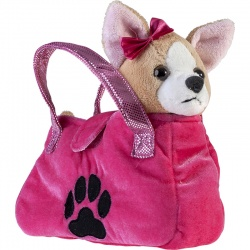 Petjes Chihuahua In Pink Bag Soft Toy