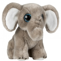 Petjes Glitter Eyes Elephant Soft Toy