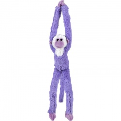 Petjes Cute Hangers Purple Monkey Soft Toy