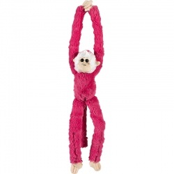 Petjes Cute Hangers Pink Monkey Soft Toy