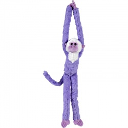Petjes Cute Hangers Purple Monkey Large Soft Toy