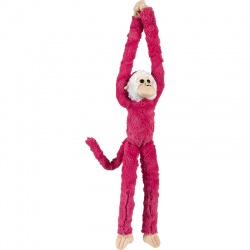 Petjes Cute Hangers Pink Monkey Large Soft Toy