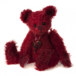 Charlie Bears Minimo Cherry Mohair Teddy Bear