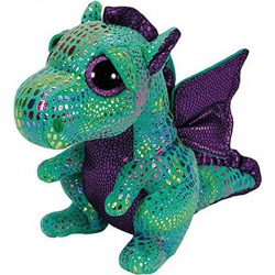 TY Cinder Small Green Plush Soft Toy Dragon