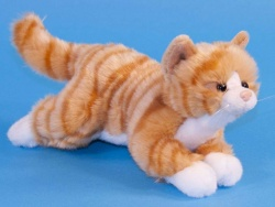 Dowman Ginger Striped Tabby Cat 26cm Plush Soft Toy