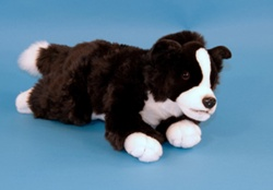 Dowman Border Collie 38cm Plush Soft Toy