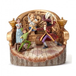 Disney Traditions Carved by Heart Peter Pan Darling Duel Figure