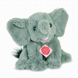 Teddy Hermann Elephant Sitting Plush Soft Toy Animal