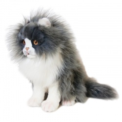 Grey And White Cat Soft Toy