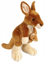 Ravensden Kangaroo With Baby Joey 22cm Plush Soft Toy