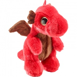 Petjes Glitter Eyes Dragon Red Soft Toy