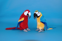 Dowman 35cm Parrot Soft Toys Choice of 2 colours