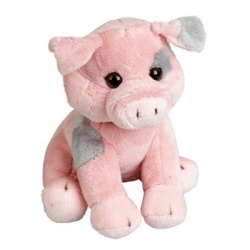 Ravensden Pink And Grey Pig Plush Soft Toy