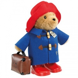 Large Paddington Bear with Boots and Suitcase