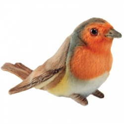 Hansa Red Breasted Robin 12cm Plush Soft Toy
