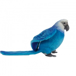Hansa Spix's Macaw 27cm Plush Soft Toy