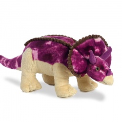 Aurora World Triceratops Large Plush Soft Toy Dinosaur