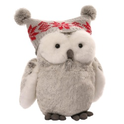 Gund Seasonal Twinkles Snow Owl Medium Soft Toy