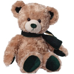Gund Velvetino Bear With Green Scarf Soft Toy