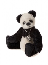 Charlie Bears Mohair Keyring Boots 12cm Limited Edition 2013 Teddy Bear