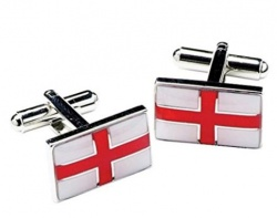 Mens St. George's Cross England Flag Cufflinks