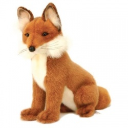 Hansa Toe Fox Plush Soft Toy Animal
