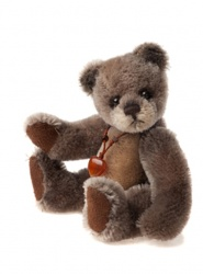Charlie Bears Mohair Keyring Moccasin 12cm Limited Edition 2013 Teddy Bear