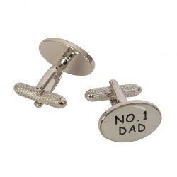 Mens Designer No 1 Dad Cufflinks