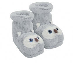 Aroma Home Shoes Fun For Feet Grey Owl, Unisex Adults Slipper Boots