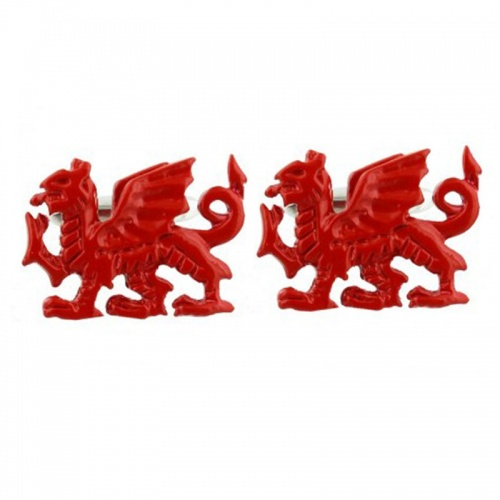 Red Welsh Dragon Cufflinks