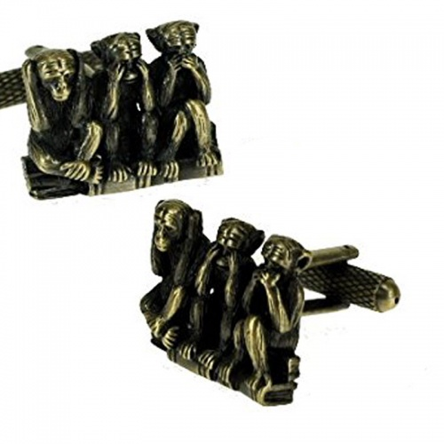 Mens 3 Wise Monkeys Cufflinks