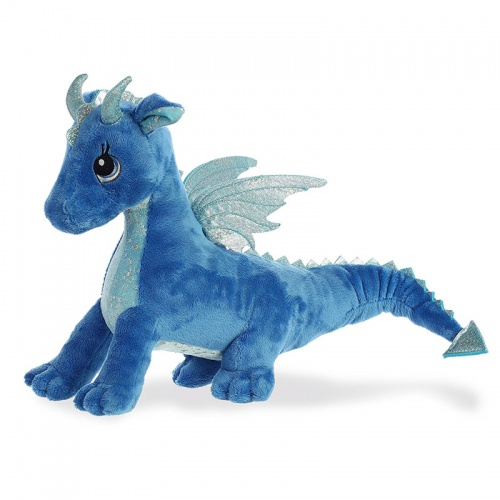 Sparkle Tales Indigo Dragon Soft Toy