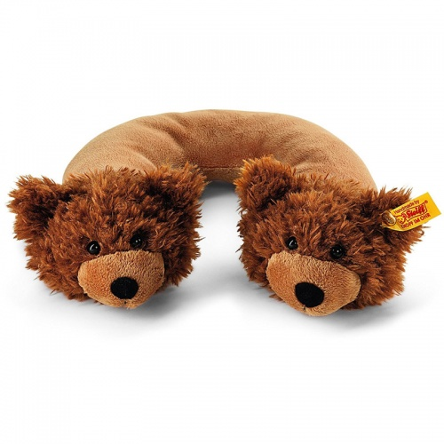 Steiff Charly Brown Plush Travel Neck Pillow