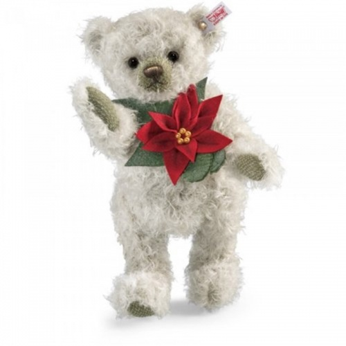 Steiff Pointsettia Limited Edition Mohair Teddy Bear