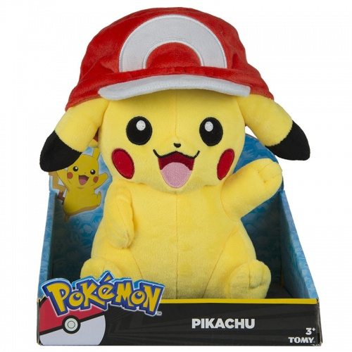 Pokemon Pikachu Plush Soft Toy  with Ash Hat