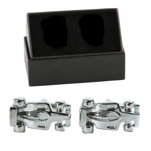 Mens Designer Formula 1 Motor Car Driving Cufflinks