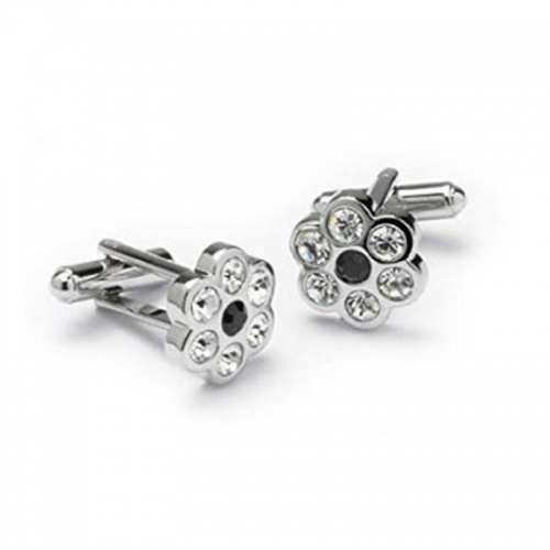 Crystal Flower Cufflinks