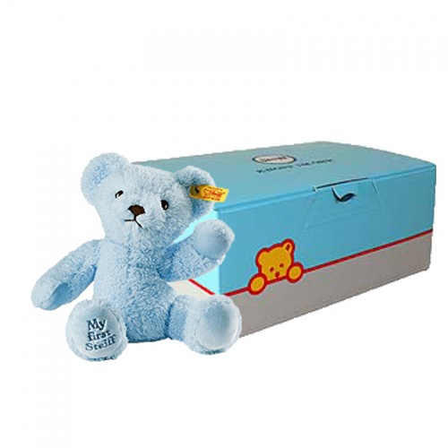 Steiff My First Teddy Blue Gift Boxed