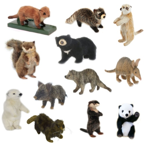Hansa Set of 12 Mini Animal Soft Toys